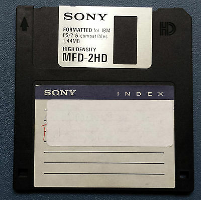 "1.44MB PC Used Floppy Disk 3.5"" Sony Computer tested"