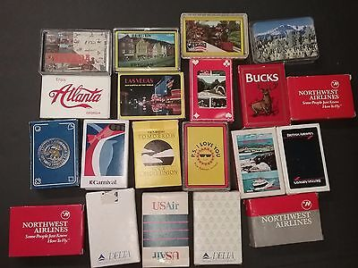 Airline Playing Cards Lot of 20 Decks.Las Vegas Alanta Airlines China carnival
