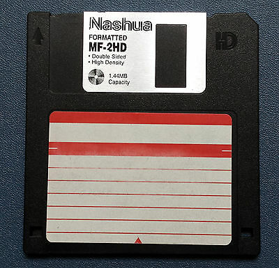 "1.44MB PC Used Floppy Disk 3.5"" ""Nashua"" Computer tested"