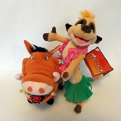 The Lion King Plush Pumba and Timon Lot of 2 plushes