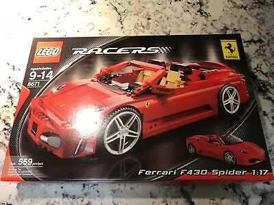 Lego Racers 8671 Ferrari 430 Spider Brand New In Box Sealed