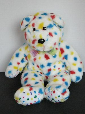 "TY Beanie Buddies Polka Dot Confetti Bear 2K Plush Teddy Bear 13"" 1999"