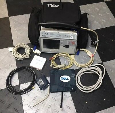 ZOLL E Series Biphasic 3 Lead ECG SpO2 NIBP etCO2 AED Defib Tested