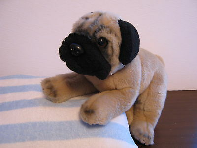 Pug Stuffed Dog ANIMAL ALLEY Plush Curled Tail
