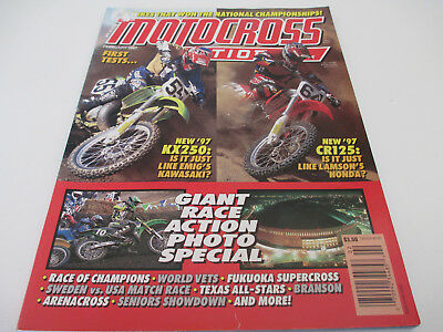 Motocross Action Magazine Feb 1997 Price Guide RACE PHOTO SPECIAL KX250 CR125