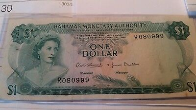 1968 BAHAMAS ONE DOLLAR PICK# 27a  NO RESERVE! SUPER NICE! MUST SEE!!