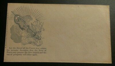 Rare Us Civil War 1861 Sword Of The Union Soldier's Patriotic Cover