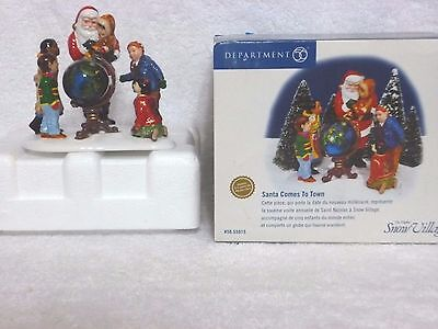 Dept 56 Snow Village Santa Comes To Town – Limited Edition 1999 - 55015
