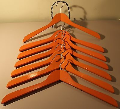 7 Wood Orange Hangers (New) Made In West Germany