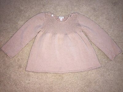 Bonpoint Baby Girl Pink Knit Wool Top Sweater Size 2