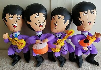 """Vintage Collectible The Beatles Inflatable 1966 Blow Up dolls 15"""""""