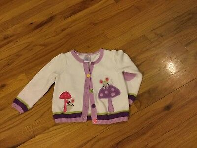 "Girls Gymboree sweater size 2T long sleeves w/mice ""Mousing Around"""
