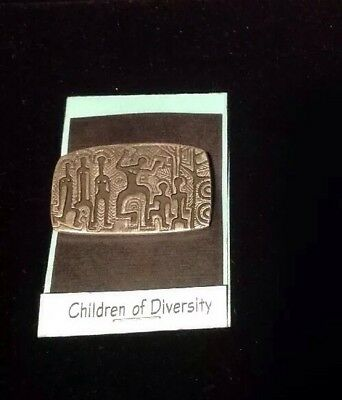 Vintage Alice Seely URBAN FETISHES Pewter Brooch Pin Tribal Dance Art