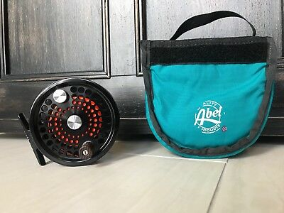 Abel 3N Fly Fishing Reel. Black. W/ Case.