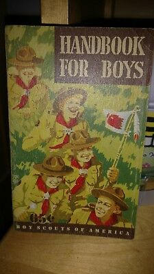 Boy Scout Hanbook For Boys-Fifth Edition-First Printing June 1948-Don Ross Cover
