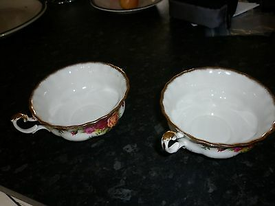 ROYAL ALBERT old country roses Soup coupes