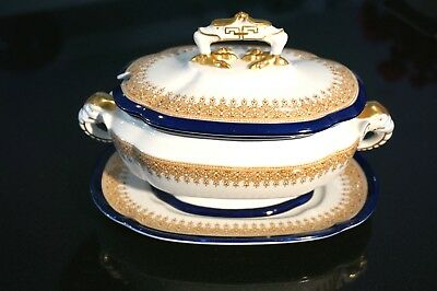 Royal Worcester Vitreous Small Tureen With Base Plate Circa 1899