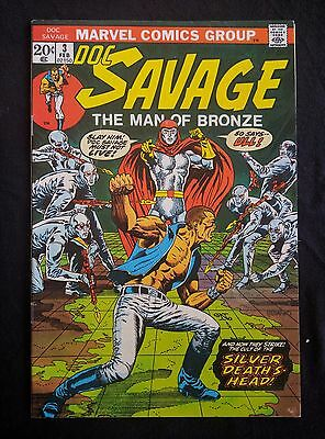 Doc Savage #3 (Feb 1973, Marvel) Lot of 2 VF and FN  Steranko cover