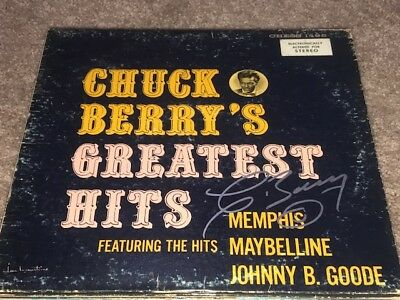 AMAZING Chuck Berry Signed Autographed GREATEST HITS Album LP