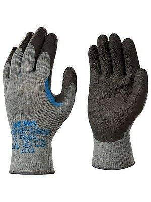 Glove Heavy Duty Work Regrip 330 Grey XL Brickies Handyman