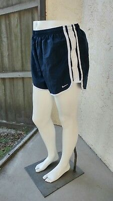 NIKE Dri-Fit Size Medium Navy White Tempo Shorts Womens Running