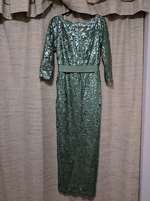 Tadashi Shoji Sequined Lace Mother of the Bride/Evening Gown, Size 14