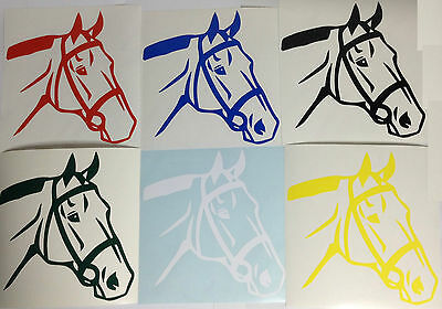 Horse Head Portrait Sticker Horse Face Vinyl Decal Any Colour Buy 2 Get 1 Free