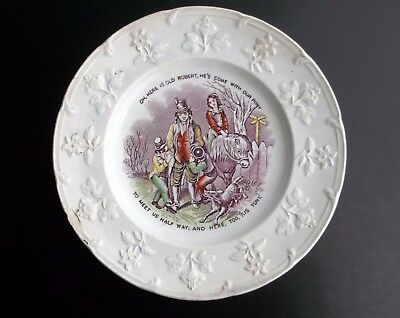 Child's Education Plate with Proverb 1830's era.