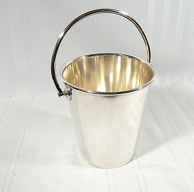Vintage Modernist Pail Style Silver Plated ICE / Wine BUCKET Victorian Plate