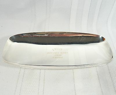 Silverplate TROPHY DISH/ Bowl  Royal St. Lawrence Yacht Club 1965 Fall RACE