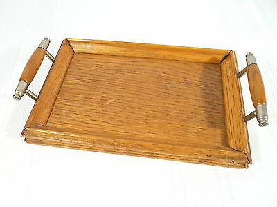 OAK WOOD TRAY Small or MINIATURE Hand Made WOODWORK 9 inch x 6 inch Tray
