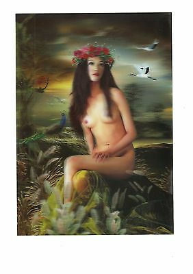 Nude girl myth view 3D Lenticular  Holographic Stereoscopic Picture Wall Art