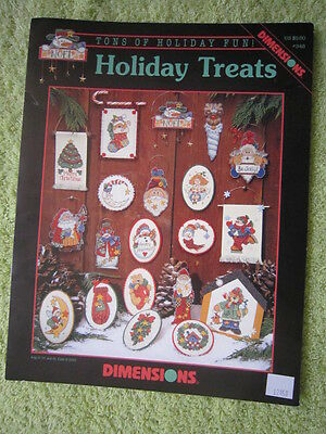 """Christmas Cross Stitch Patterns """"holiday Treats"""" From Dimensions"""