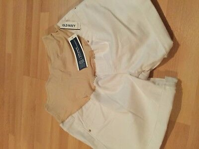 NWT: old navy full panel white denim skinny shorts (12)