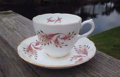 Cup & Saucer Set Marlborough England Genuine Bone China RARE