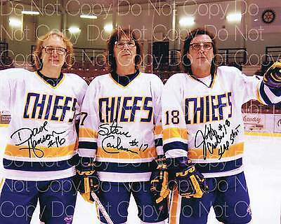 Slapshot signed Hanson Brothers 8X10 photo picture poster autograph RP