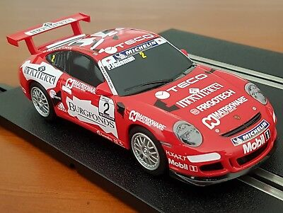 Scalextric Slot Car 1/32 Porsche 997 With Digital Chip Fitted