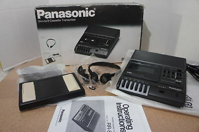 🍀 ‡ NEW DEMO! ‡ Panasonic RR-830 Standard Cassette Tape Recorder Transcriber