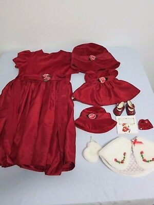 Bitty Baby Rosy Red 2004 Reversible Cape and Purse Girl's dress size 6x