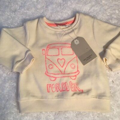 Zara Baby Girl Sweater Sz 9 12 Months VW Bus Forever In This Travel Sweat Shirt