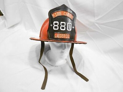 Vintage Fire Chief 880 Ladder Co. Helmet Replica, Wall Hanging
