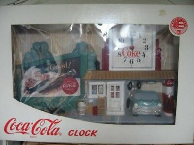 US CocaCola dead stock clock GasStation Vintage Antique Collectibles