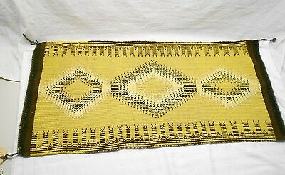 """Ortega Indian Stores,handcrafted Rug,vegetable Dye,double Weave Twill,42"""" X 21"""""""
