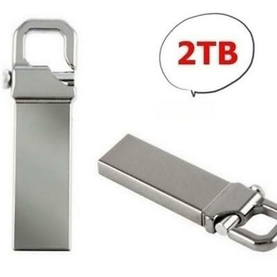 clé USB 2.0 2To 2Tb 2000Go 2000Gb métal porte clé énorme flash drive