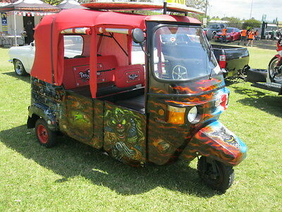 Custom Hot Rod Tuk Tuk Vespa Trike