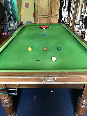 SNOOKER TABLE  (rare 3/4 size) 8ft by 4ft slate bed can be delivered and set up