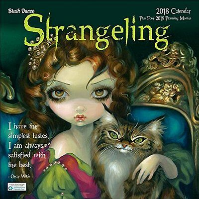 New *STRANGELING 2018 CALENDAR* Fantasy Fairy Art By Jasmine Becket-Griffith