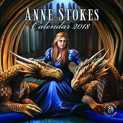 ANNE STOKES 2018 WALL CALENDAR By Pyramid 16 Month Calendar