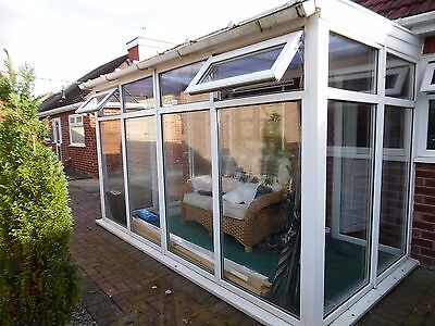 Lean to conservatory UPVC white 3m x 1.8m