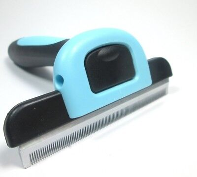 Dappa Deluxe Grooming and Deshedding Rake Comb Tool For Large Dogs and